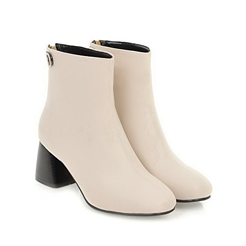 Warm A Weight Light Closed Boots Low Dress Womens Toe AN Heel Urethane Beige amp;N Weight Bootie DKU01805 High Lining Top Boots Light d7qn8S