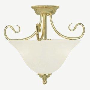 - Livex Lighting 6121-02 Coronado 2 Light Ceiling Mount, Polished Brass