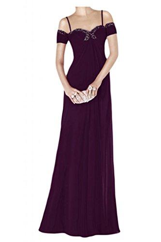 Por la noche vestidos de novia de la Toscana Chic Empire gasa largo vestido de noche de la manera de la bola Prom vestidos de fiesta Traube