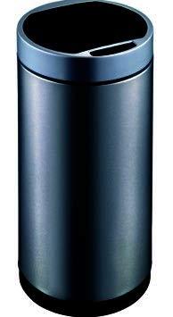EKO Round Trash Can, Black Stainless Steel, 50L by EKO
