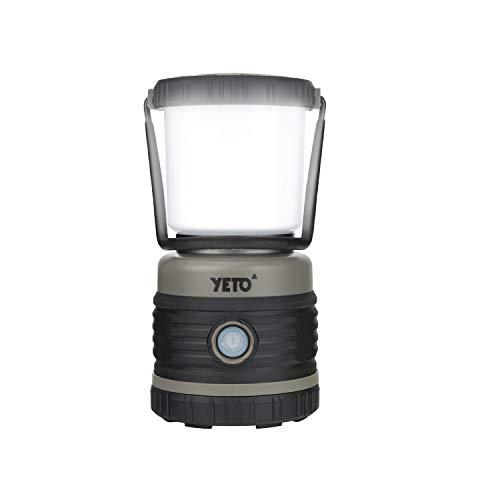 YETO Super Bright 1000 Lumen LED Camping Lantern, Outdoor Battery Operated Camp Lantern, 4 Light Modes, for Backpacking, Hiking, Fishing, Emergency, Roadside Use,Hurricane,Home,14.1 oz
