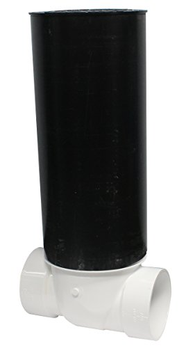 Canplas  223285W PVC Backwater Valve with 16-Inch Access Sleeve and ABS Lid, 4-Inch (Sleeve Valve)