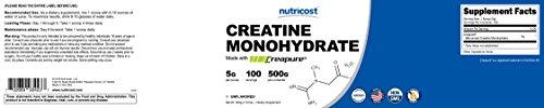 Nutricost Creapure® Creatine Monohydrate 500 Grams
