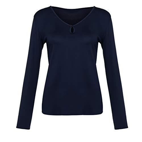 Camisas Navidad Blue Dark Mantener Camisa Chándales Larga Confort Caliente Sudadera Top Blusa Otoño Para Suéter Ocio De Ropa Manga Mujer Needra invierno 7qa1UxwR