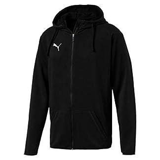 Puma Herren Liga Casuals Hoody Jacket Jacke, Schwarz (Puma Black-Puma White), M 8