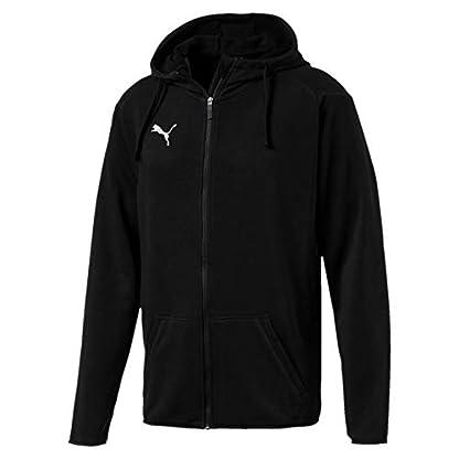 Puma Herren Liga Casuals Hoody Jacket Jacke, Schwarz (Puma Black-Puma White), M 1