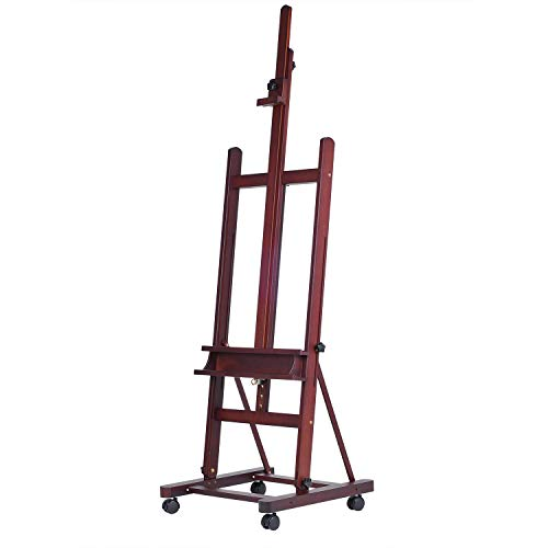 MEEDEN Extra Large Studio Easel Solid Beech Wood H-Frame Artist Easel, Accommodates Canvas Art up to 92 inch high - $129.95
