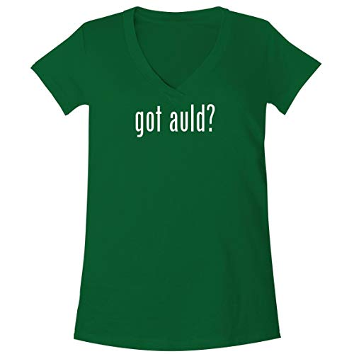 The Town Butler got Auld? - A Soft & Comfortable Women's V-Neck T-Shirt, Green, Small (Lawrence Welk Piano)
