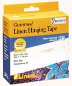 Lineco L533-1025 Gummed Linen Tape 1In X 30Ft