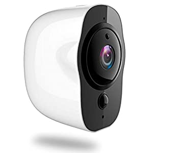 Wireless Security Camera, IP65 Waterproof Rechargeable WiFi Home Security Camera, Indoor Outdoor 1080p IP Surveillance System with Motion Detection, Night Vision, 2-Way Audio Talk on iOS, Android App