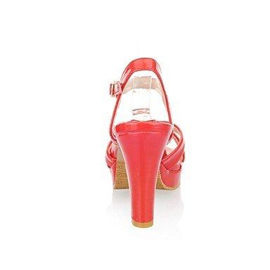 Abierta Delantera Parte beige Bloque High Barniz Chico Mujer Heels Mujeres Correa sundalen Piel Zapatos cirior absätzeplateauf tacón P7Ofcq