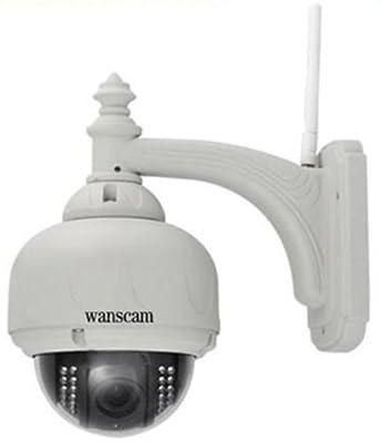 Wanscam PTZ IP Camera AJ-C0WA-C0D8 Vandal-proof Speed Dome Pan:355°/tilt: 90°/3 X Optical Zoom 8mm Wifi Wireless Ir Cut 15 Meter Night Vision