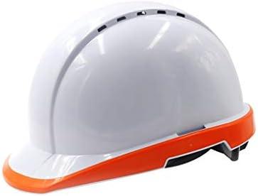 LCSHAN 夜光ヘルメット工事現場換気補強衝撃抵抗 (Color : Orange)