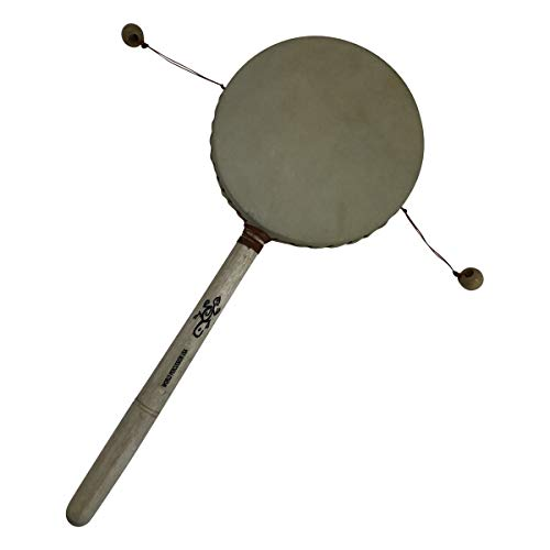 5″ Wide Balance Drum – Twist Rattle, Monkey Drum Percussion Instrument Toy by World Percussion USA