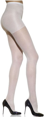 Silkies Women's Control Top Pantyhose -Queen White -