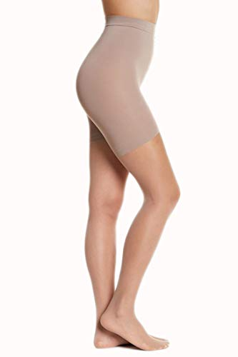 Donna Karan Signature Sheer Satin Ultimate Toners Pantyhose 0B109, Nude, S