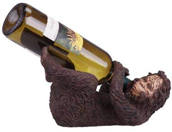"Comical Big Foot Wine Bottle Display Rack Holder, 10"", Collectible Lodge Decor"