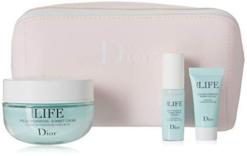 Christian Dior Hydra Life 3 Piece Set (deep Hyd Serum 0.23 Oz + Fresh Hyd Cream 1.7 Oz + Cooling Eye Gel 0.18 - Ounce 0.18 Cream