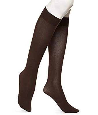 HUE Women's Soft Opaque Knee High Socks (Pack of 3)