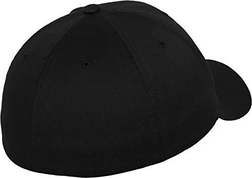 Flex Fit Herren Cap Wooly Combed black//black