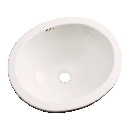 Dekor Sinks 68001 Victoria Cast Acrylic undermount Oval Bathroom sink, 14.5