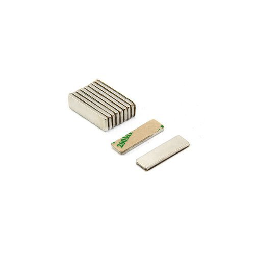 Magnet Expert® Adhesive 20 x 6 x 1.5mm thick N42 Neodymium Magnet - 1.6kg Pull ( North ) ( Pack of 10 )
