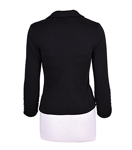 Aulin Collection Womens Casual Work Solid Color Knit Blazer