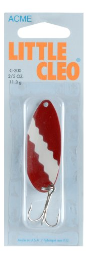 Acme Little Cleo Fishing Terminal Tackle, Red White Nickel