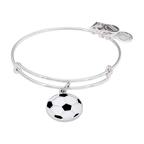 Alex and Ani Women's Team USA Soccer Bangle Shiny Silver One Size (Best Girl Soccer Team)