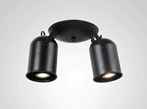 YWGYZ Ceiling Lights, Controlled Style Irons Nordic Drawing Room Hallway Walk Receipt 5 Small Stars Geometry Retro Lamps and Lanterns Industrial Wind Ceiling Lamp E27 Light Source Type Design,Black-2 ()