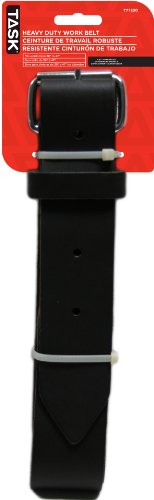 Task Tools T77230 Heavy-Duty Leather Work Belt which  Fits W