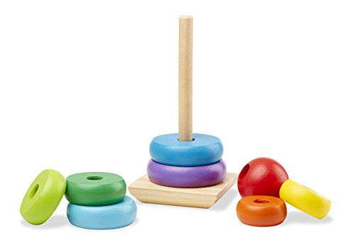 Melissa & Doug Rainbow Stacker Wooden Ring Educational Toy