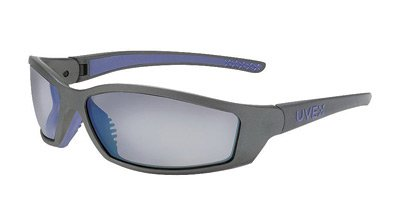 Uvex By Honeywell SolarPro Safety Glasses With Gray And Blue Nylon Frame And Silver Mirror Polycarbonate Supra-Dura Anti-Scratch Hard Coat Lens
