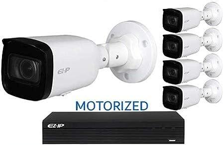 Kit de sistema de CCTV de 8 canales Dahua EZ-IP NVR IP POE 4MP 30 m IR IPC-B2B40-ZS – NVR1B08HS-8P