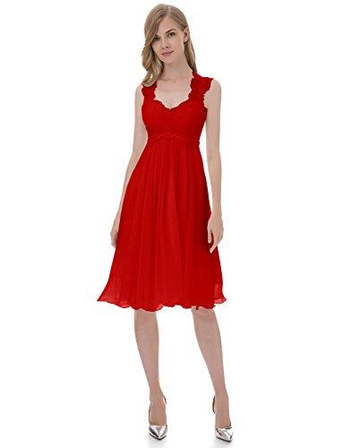 Chiffon Brautkleid Rot Kurze Erosebridal Hochzeitskleid Spitze gRw7nqE