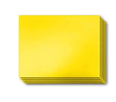 "Vibe Ink 4MM Yellow Blank Bandit Yard Signs 24"" x 18"" Sheets High Grade Corrugated Plastic Short-Flute Indoor/Outdoor - Bulk Bundles"