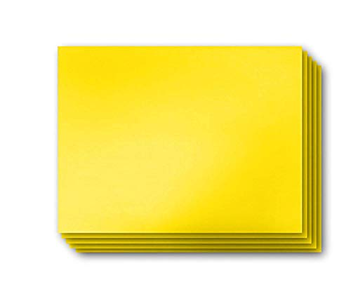 Vibe Ink 4MM Yellow Blank Signs 24 x 18 Sheets High Grade Corrugated Plastic Short-Flute Indoor/Outdoor - Bulk Bundles (50)