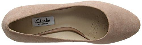 Clarks Kelda Hope, Zapatos de Tacón para Mujer Rosa (Dusty Pink)