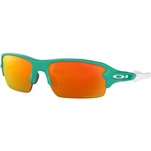 Oakley Youth Boys OJ9005 Flak XS Rectangular Sunglasses, Celeste/Prizm Ruby Polarized, 59 mm (Oakley Sunglasses Kids Polarized)