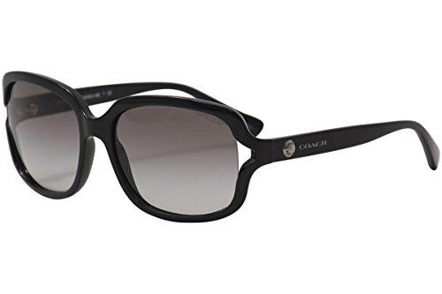 50a8e0da0bd Amazon.com  Coach Womens L149 Sunglasses (HC8169) Black Brown Plastic -  Non-Polarized - 57mm  Coach  Clothing