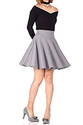 Dani's Choice Breathtaking High Waist A-line Circle Full Flared Skater Mini Skirt