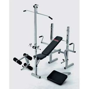 york weight bench. york 521 bench and lat curl 5 station heavy duty weight lifting
