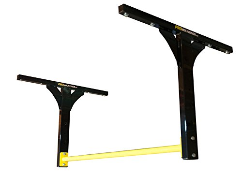 Pull Up Bar - Ceiling / Wall /Joist Mounted (Long - Black Bar) PRO Mountings