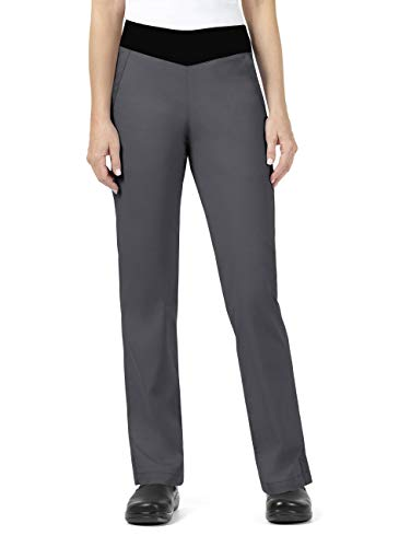 Vera Bradley Signature Collection Women's Jane Knit Waist Quilted Scrub Pant- Pewter- Small ()