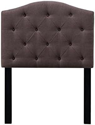Pulaski DS-D019-230-434 Camelback Tufted Upholstered Headboard, Twin, Dark Mocha