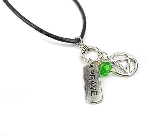 - Boho Style Alcohol Addiction Charm Necklace