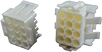 Receptacle Pack of 20 4 Positions 6.35 mm, Universal MATE-N-LOK Series Connector Housing 770026-1