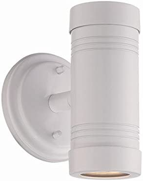 Acclaim 7692WH Cylinders Collection 2-Light Wall Mount Outdoor Light Fixture