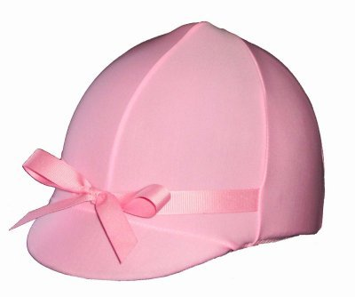 Equestrian Riding Helmet Cover - Pastel Pink