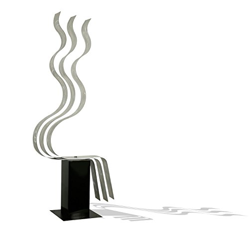 Abstract Silver Metal Sculpture - Transitions